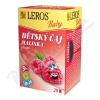 LEROS BABY Dětský čaj Malinka n. s. 20x2g