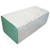 Papírové ručníky sklád.  ZZ 1vrstvé zelené 2x250ks