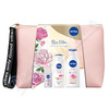NIVEA set ŽENY milk rose+SG clay+roll clear+lab.