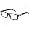 Brýle čtecí +2. 50 černé s kovovým doplňkem FLEX