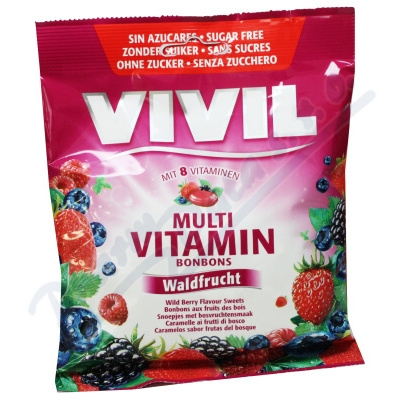 Vivil Multivitamín lesní plody 8vit. bez cukru 80g