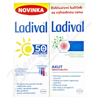 LADIVAL Obličej DUO Akut 50ml+Alerg OF50+ gel 50ml