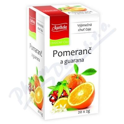 Apotheke Pomeranč a guarana čaj 20 x 2g